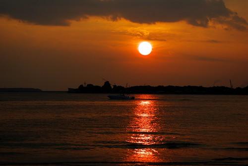 sunset sun beauty night river boat pentax abigfave k10d pentaxk10d