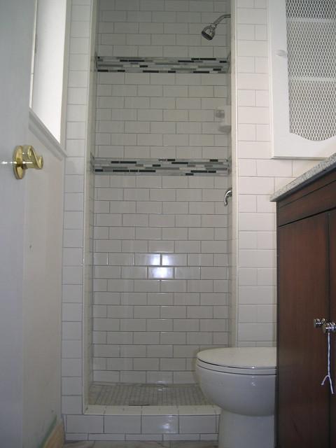 Subway tile shower flickr photo sharing for 9x12 bathroom designs