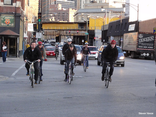 Bike Milwaukee To Chicago Biking on Milwaukee Avenue at