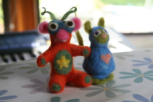 Needle-Felted Monster Friends