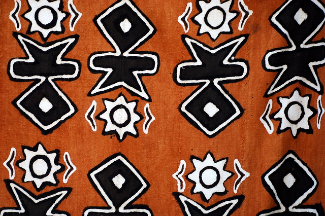 Cloth with african pattern