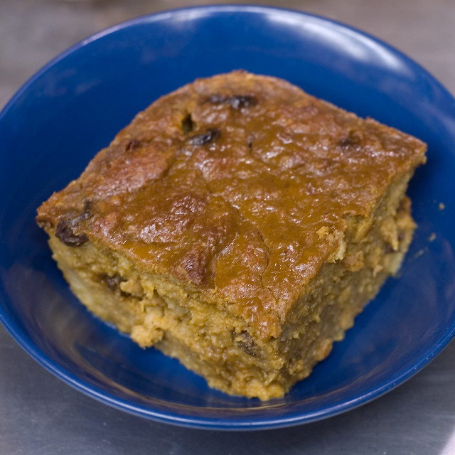 Pumpkin Bread Pudding (Low Fat)