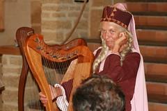 string instrument, temple, harp, string instrument,