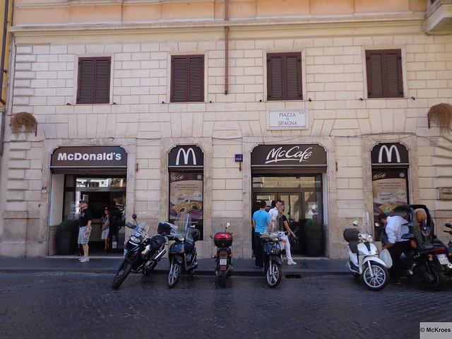 McDonalls de la Plaza de España, Roma