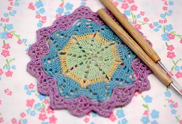 Free Vintage Crochet Coaster Patterns : Crochet coaster from a vintage doily pattern Flickr ...