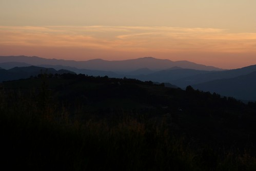 Perticara, Italie. Prachtig uitzicht vanuit de luie stoel...