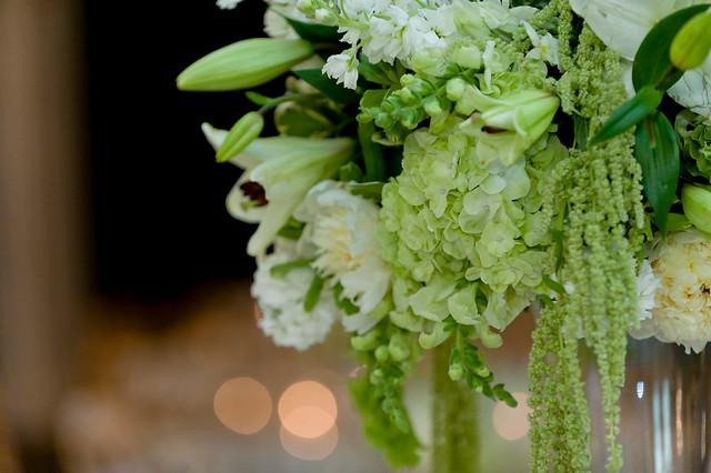 Green hydrangea centerpiece flickr photo sharing