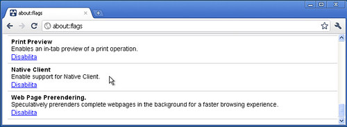 Chromium su Windows: Native Client e Web Page Prerendering