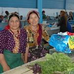 Women Vendors at Market in Turkmenbashi, Turkmenistan