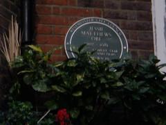 Photo of Jessie Matthews green plaque