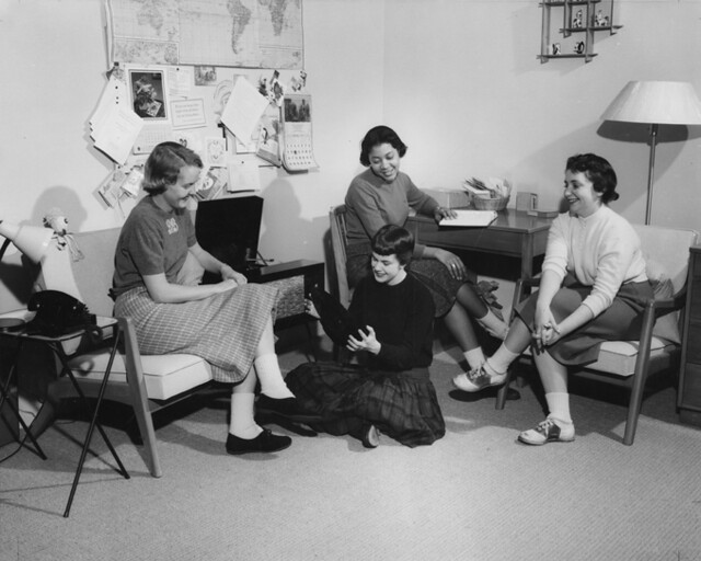 Girls In Dorm Room Playing Record 1958 Flickr Photo Sharing