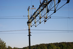 electrical supply, overhead power line, line, electricity, sky, public utility,