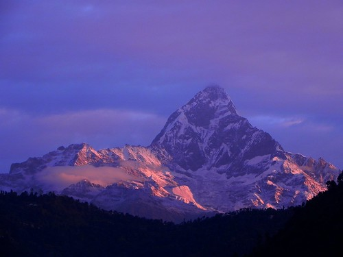 morning nepal mountain colour beauty sunrise landscape dawn peak divine himalayas fishtail lopamudra machhapuchhare