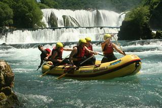 Rafting at Una