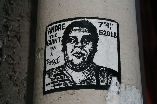 stencil art in paris obey andre the giant flickr photo
