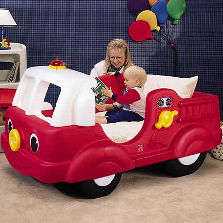Simple Fire Engine Toddler Bed