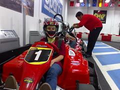 pit stop(0.0), road racing(0.0), formula one(0.0), race track(0.0), auto racing(1.0), automobile(1.0), kart racing(1.0), racing(1.0), vehicle(1.0), sports(1.0), race(1.0), motorsport(1.0),
