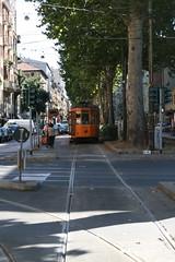 Tram in viale Montenero