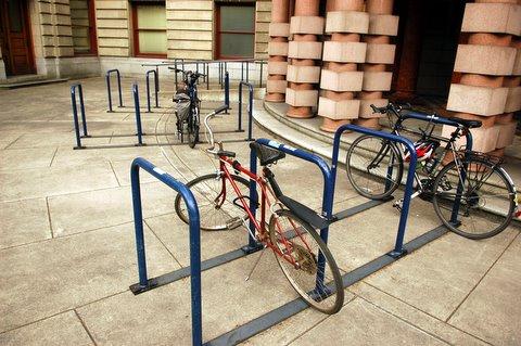 city hall bike racks