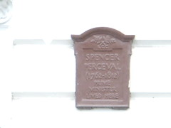 Photo of Spencer Perceval brown plaque