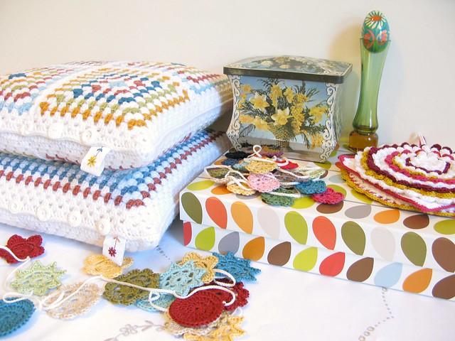 studio details: colourful outlook   crochet by Emma Lamb