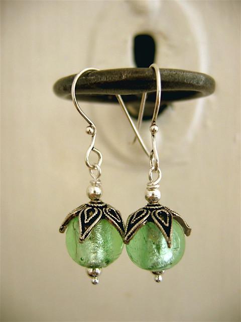 Absinthe earrings