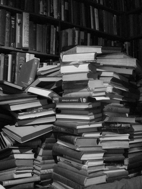 books in a stack (a stack of books) from Flickr via Wylio
