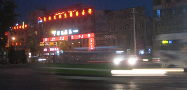 Kashgar at night