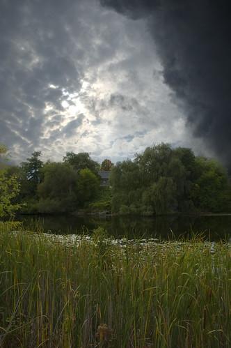 sky house river landscape scenery d70s stormy