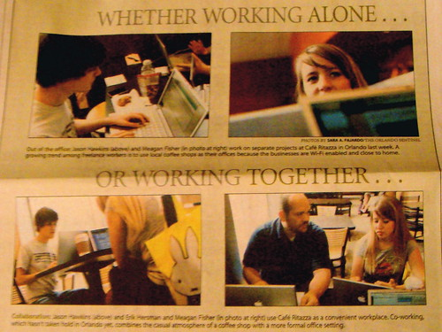 Coworking Article in Orlando Sentinel