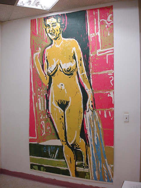 Roger Herman, 'Woman Nude', 2000, woodcut