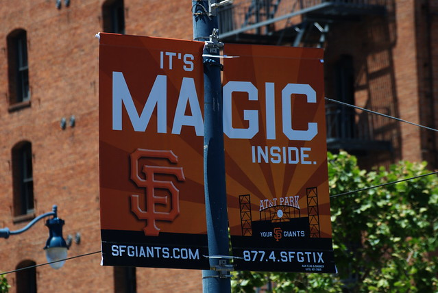 San Francisco Giants - It's Magic Inside Sign