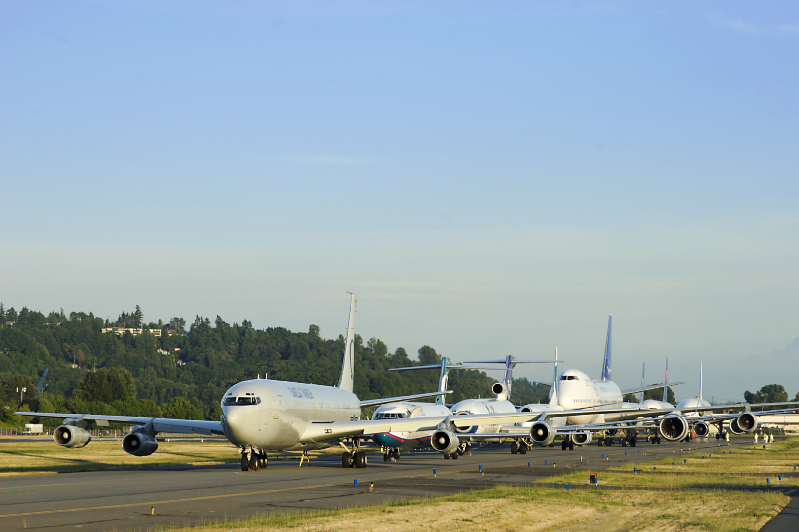 707, 717, 727, 737, 747, 757, 767, 777 all lined up for the first