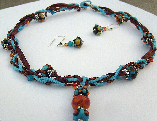 Customer designed jewelry using my beads