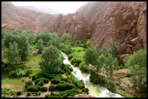 River in Dades Valley