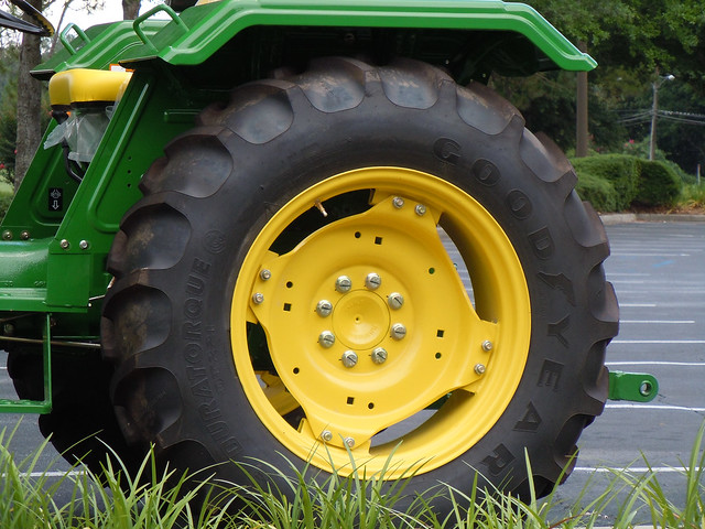John Deere Tractor Tyre : Goodyear tire on john deere tractor flickr photo sharing