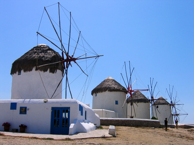 Windmills at Mykonos Island