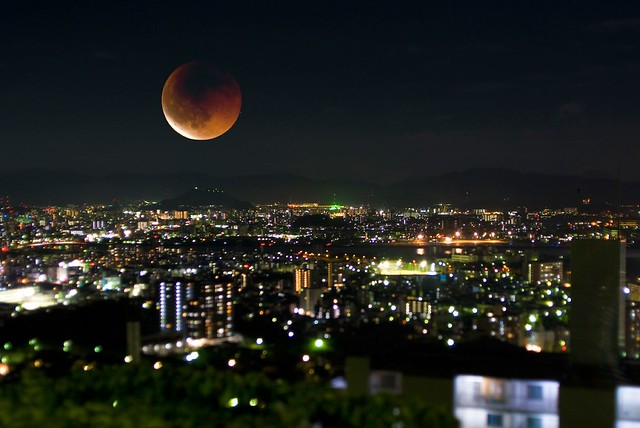 Photo:a total eclipse of the moon By:Giyu (Velvia)