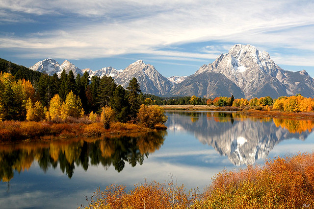 Vista from Oxbow Bend on the Snake River