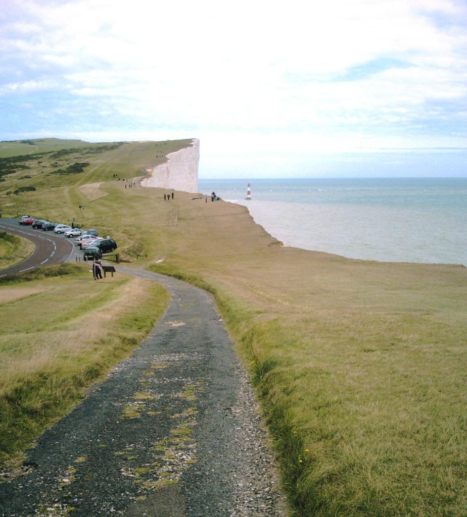 Book 2 Walk 28 Seaford to Eastbourne Beachy Head from the South Downs Way. David A. Vivitar 5199mp