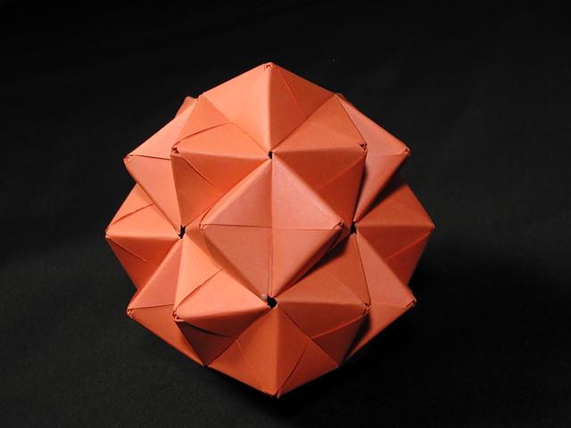 truncated tetrahedron 2 modular origami flickr photo