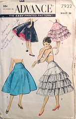 1950s vintage sewing pattern petticoat