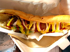sandwich, meal, junk food, hamburger, submarine sandwich, meat, food, dish, hot dog, fast food,