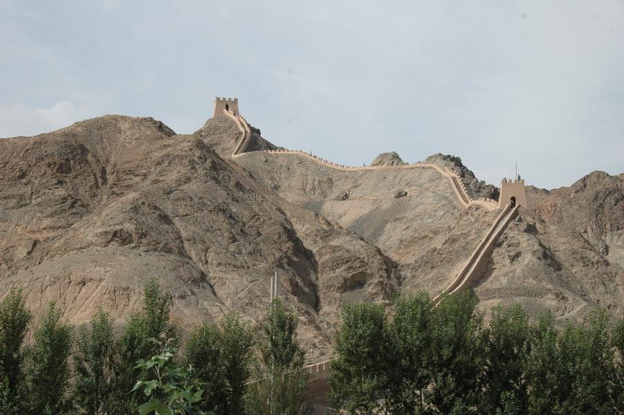 Jiayuguan, la partie la plus à l'ouest de la muraille de Chine