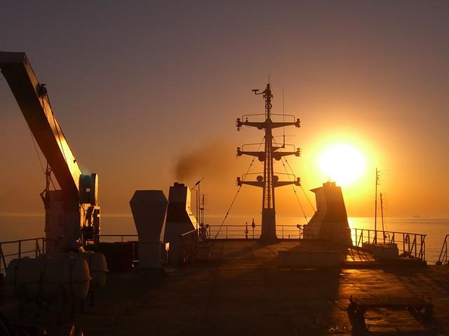 Sun Sets over Caspian Sea - Azerbaijan, Turkmenistan