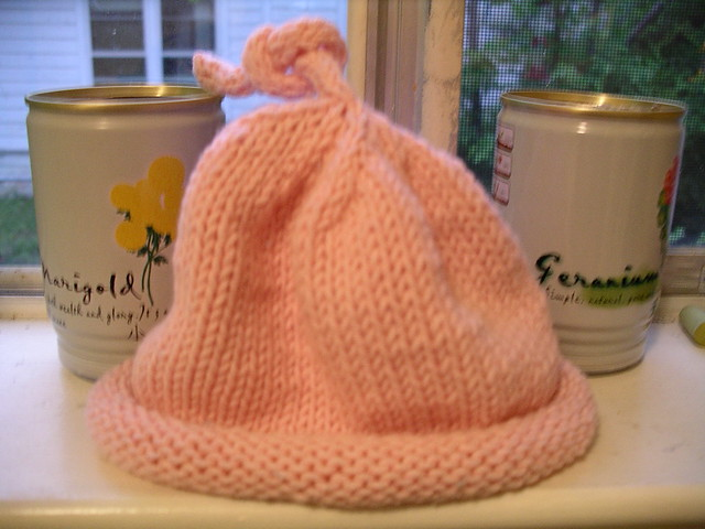 Knitting Pattern Umbilical Cord Hat : Umbilical Cord Hat From Stitch n Bitch. An old knitting p? Flickr - ...