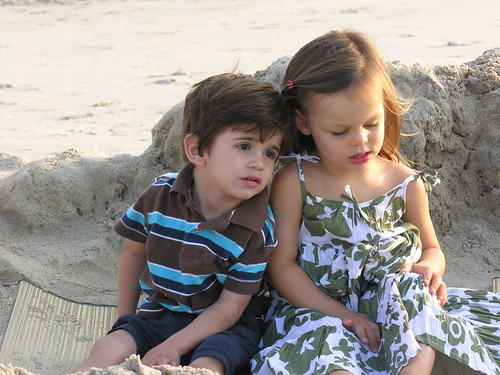 Jordan and Grace on the beach