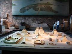 Aztec antiquities Model of temple
