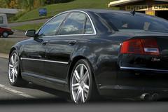 audi a8(0.0), automobile(1.0), automotive exterior(1.0), executive car(1.0), family car(1.0), wheel(1.0), vehicle(1.0), automotive design(1.0), rim(1.0), full-size car(1.0), mid-size car(1.0), audi s8(1.0), bumper(1.0), sedan(1.0), land vehicle(1.0), luxury vehicle(1.0),