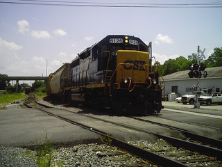 CSX 6126 GP40-2 pulling a local freight in Cordele